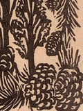 Pinyon Pine Nut Tree Small Original Woodcut from Alpine Mountain Trees Landscape Collection