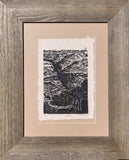 FRAMED The Scar Grand Canyon Colorado River Southwest Landscape Handmade Paper