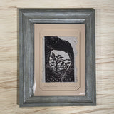 5x7 Original Woodcut Nature Print SET Joshua Flower Bridge Mountain Art Gift MAT or FRAMED