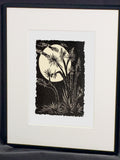 Moon Joshua Tree Night Desert Landscape Classic Original Woodcut