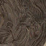 Rings Male Figures Surreal Tree Rings Earthtone Original Wood Engraving HM Paper