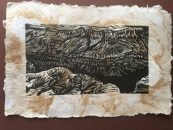 Mesas View of Grand Canyon Colorado River Southwest Landscape Handmade Paper