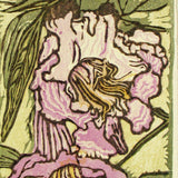 Original Japanese Woodblock Print Color Flower Woman Drunken Bee In Willow Bloom