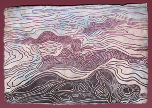 Bodyscapes I Earth Woodcut Surreal Nature Lovers Topographic Figure Map