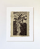 View Grand Canyon Original Woodcut Tree Landscape Colorado River