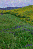 Green Overlapping Meadow Hills Mountain Colorfields V Fine Art Print