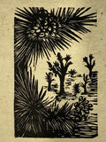 SET 9 Original Woodcut Prints Desert Landscapes Joshua Yucca