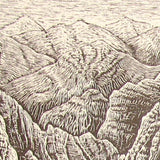 Set 2 Inspirational Wood Engravings Southwest Views Mojave Desert and Colorado River Canyon