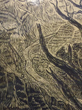 Matched Set of 3 Southwest Woodcuts Magnificent Landscape Views of Grand Canyon