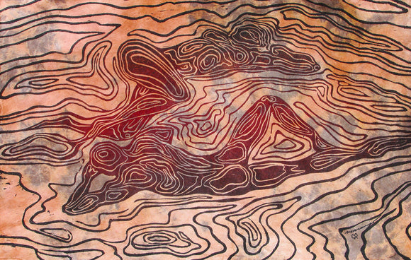 Bodyscapes II Fine Art Print Surreal nature lovers topographic map topo bodies