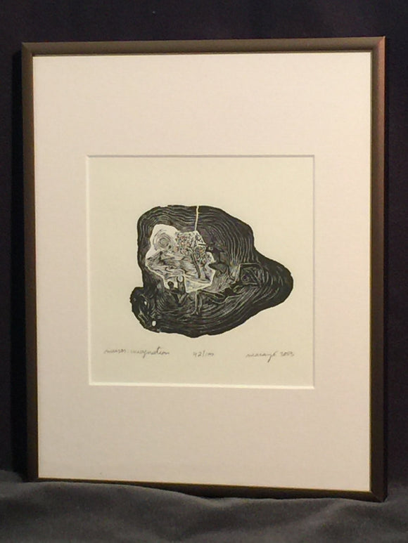 FRAMED 8X10 Wood Engraving Imagination Unique Figures Greek Muses Playing Music