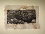 MATTED 12x16 Thunderbird Mesas Grand Canyon Colorado River Southwest Landscape