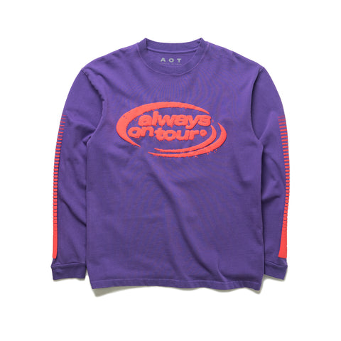 AOT Spinner Logo Long Sleeve Tee (Purple)