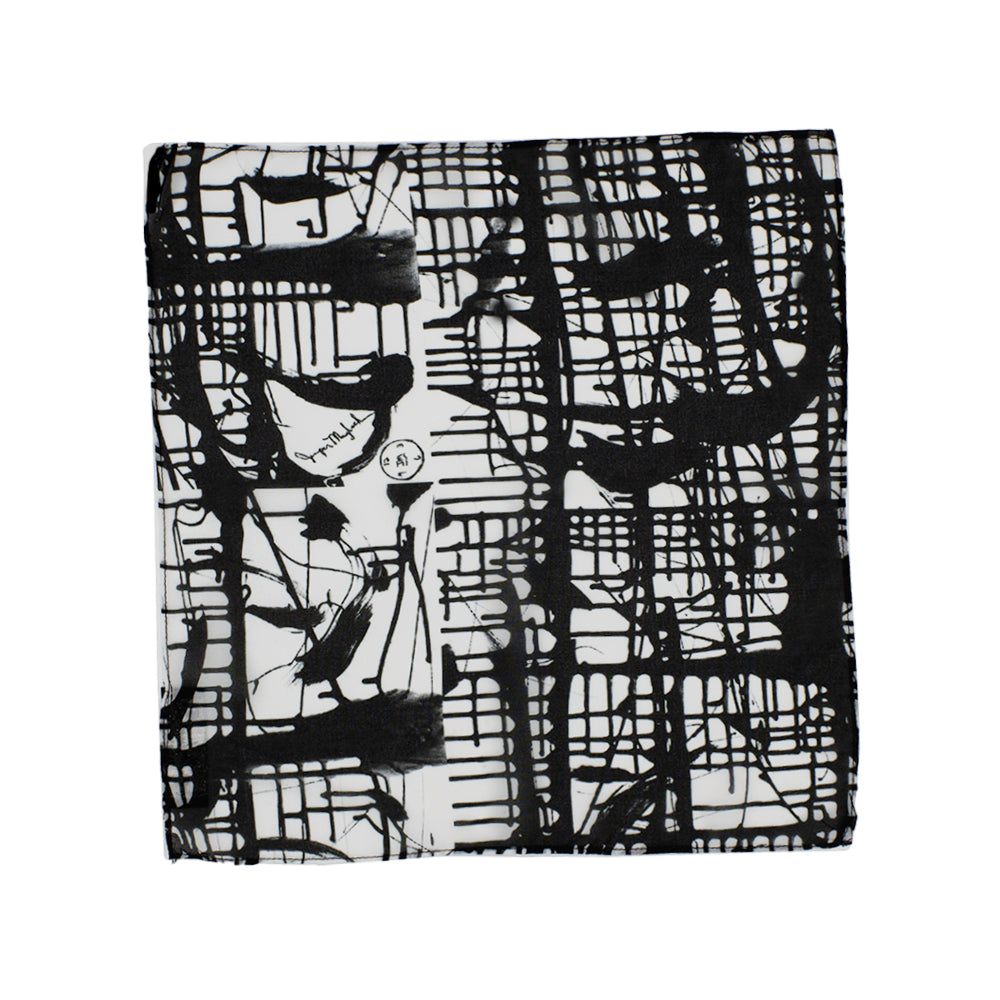 Dark Matrix Pocket Square by Jumper Maybach®
