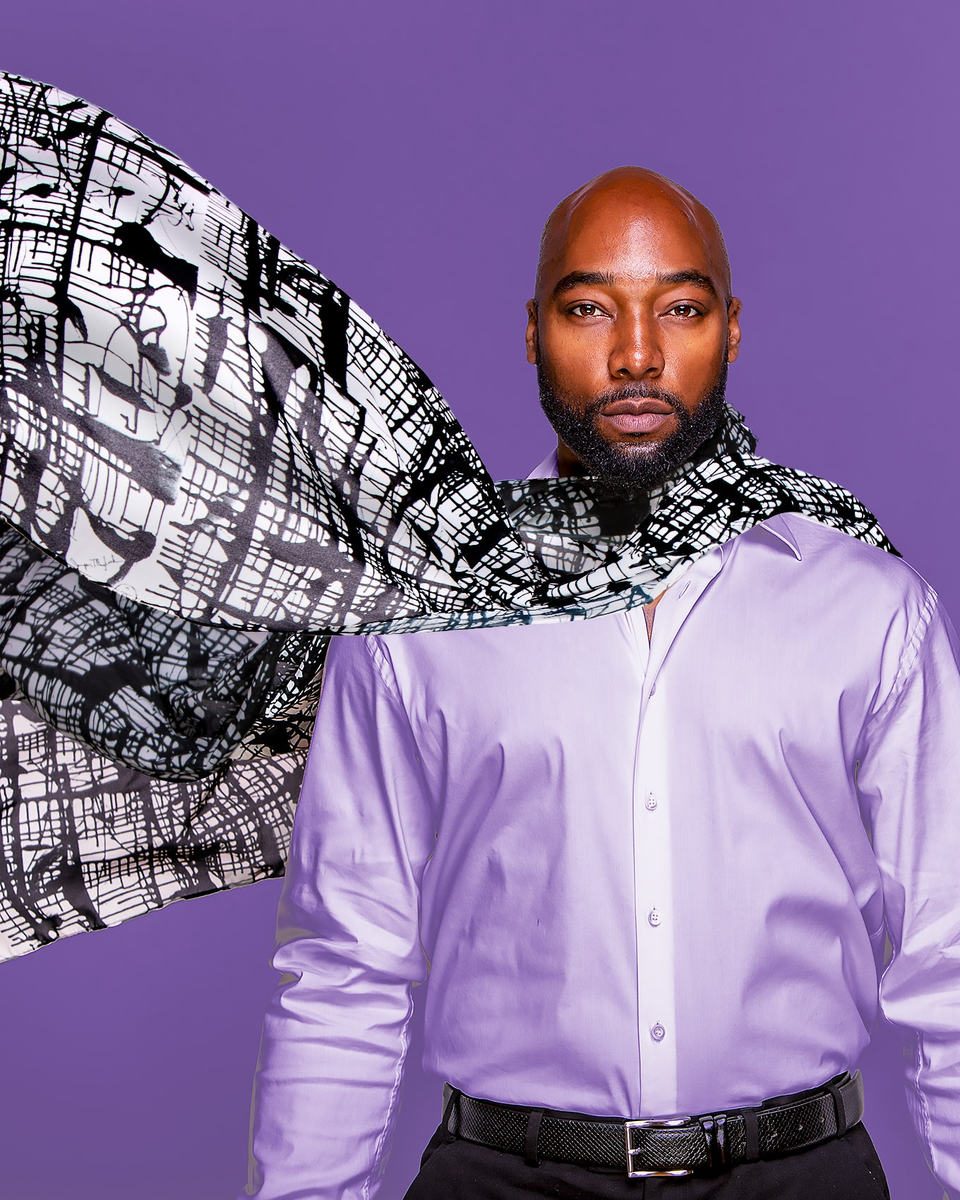 Dark Matrix Scarf by Jumper Maybach®