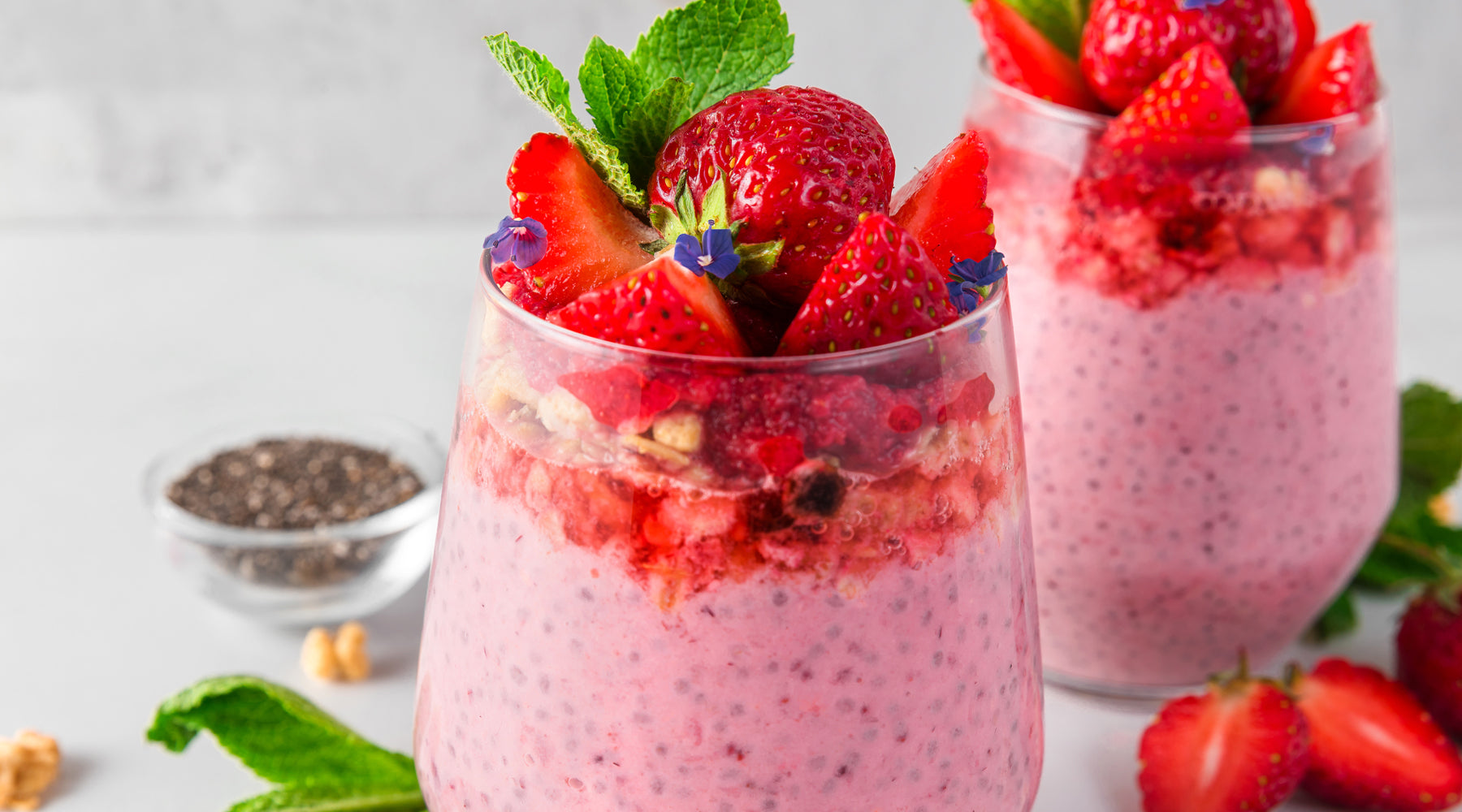 Overnight Strawberry Chia Pudding