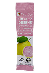 NutriDyn FRUITS & GREENS TO-GO, PINK LEMONADE, 10.12 g