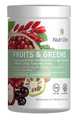 NutriDyn FRUITS & GREENS CHOCOLATE PEPPERMINT, 314g