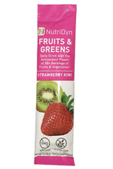 NutriDyn FRUITS & GREENS TO-GO, STRAWBERRY KIWI, 10.09 g