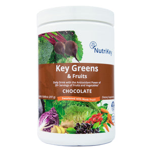 Key Greens & Fruits Canister, Chocolate (w/ Monk Fruit)