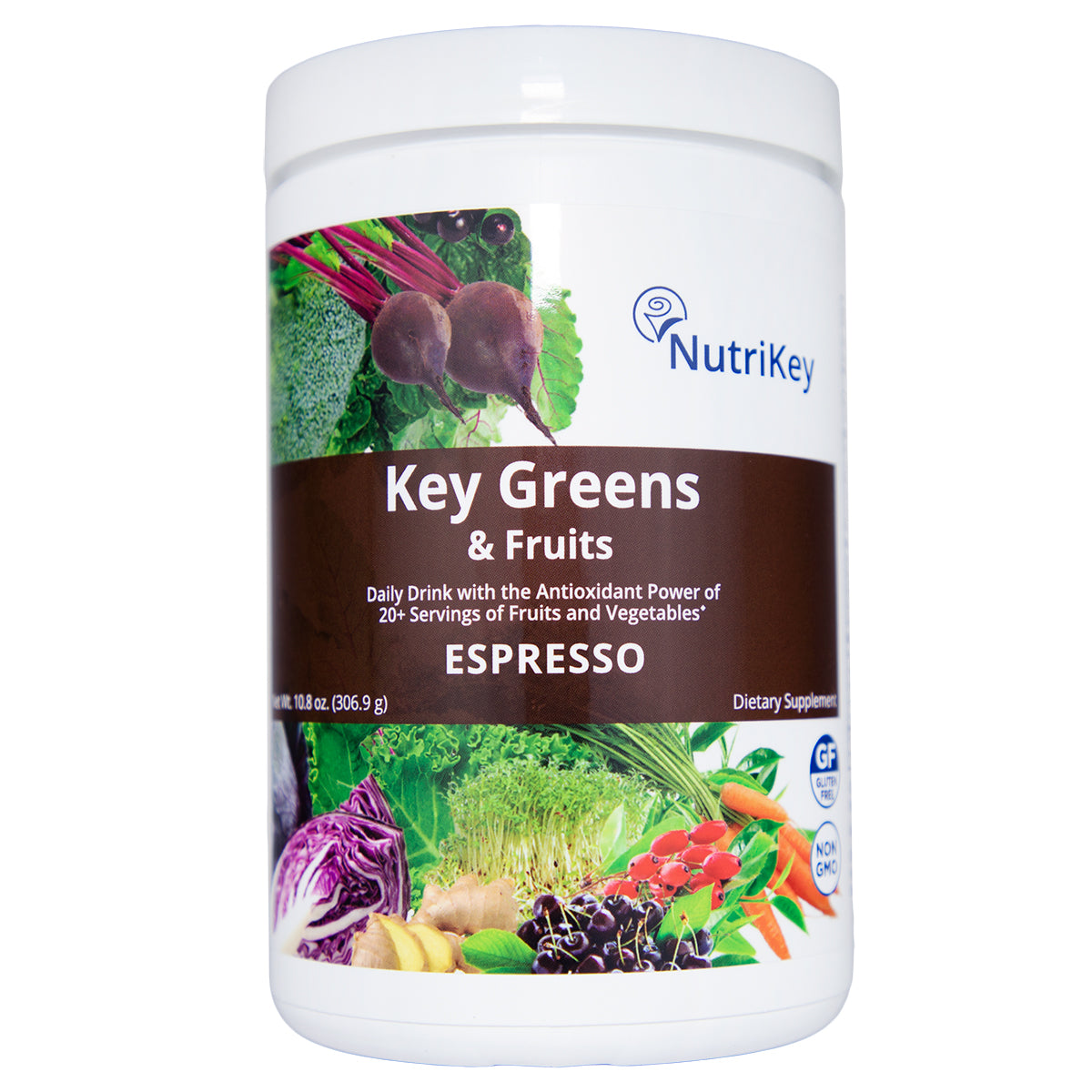 Key Greens & Fruits Canister, Espresso