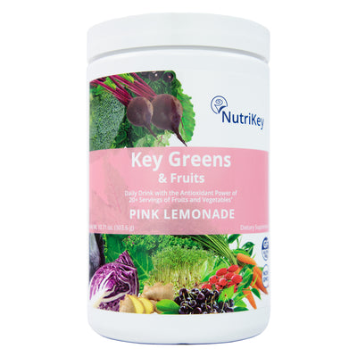 Key Greens & Fruits Canister, Pink Lemonade