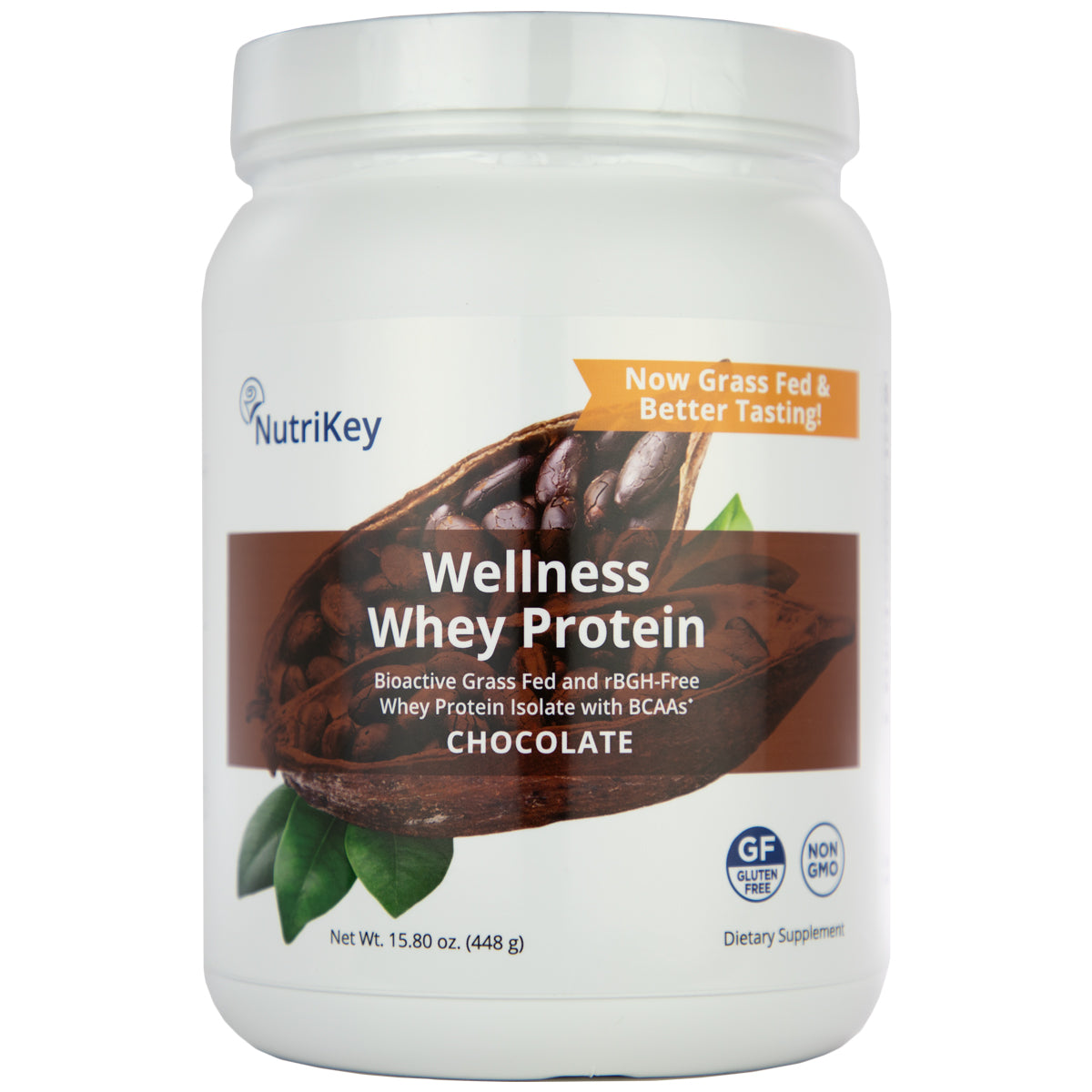 Wellness Whey Protein Chocolate, 1 pound (New & Improved!)