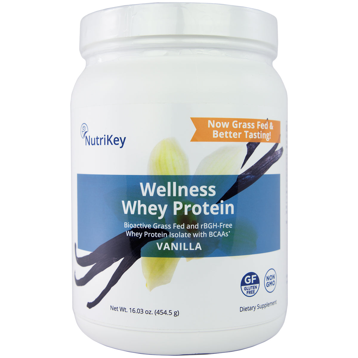 Wellness Whey Protein Vanilla, 1lb (New & Improved!)