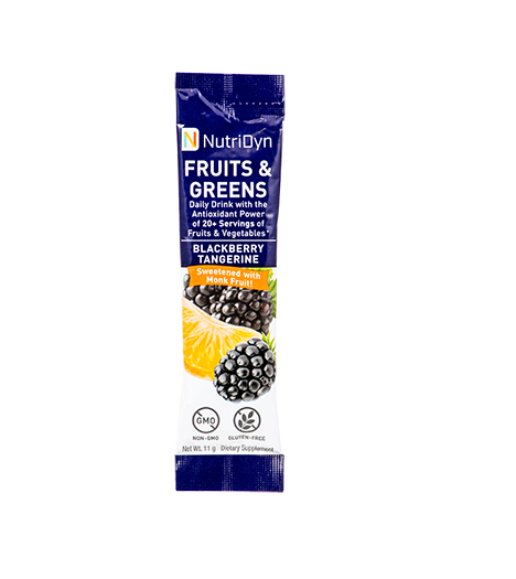 NutriDyn Fruits & Green TO-GO, Blackberry Tangerine (w/ monk fruit)