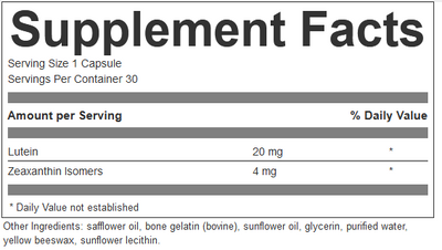 Lutein, 30 softgels