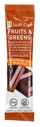 NutriDyn Fruits & Green TO-GO, Chocolate (w/ Monk Fruit)