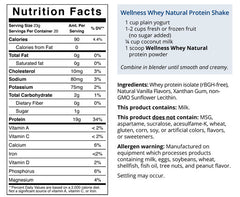 WELLNESS WHEY NATURAL, 1 pound