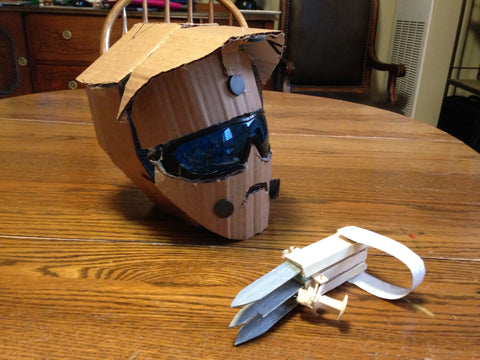 homemade DIY Wolverine mask claw