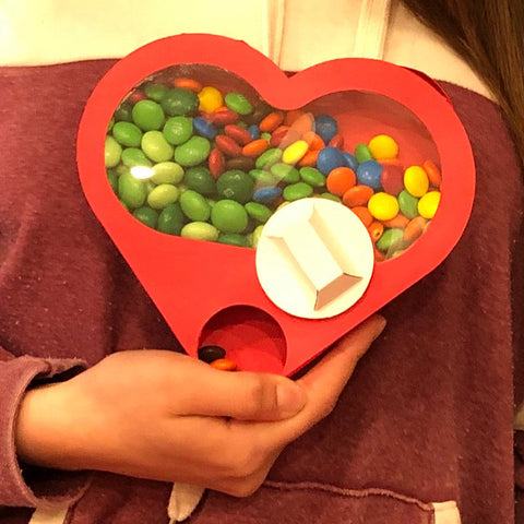 octogifts heart shaped valentine candy dispenser