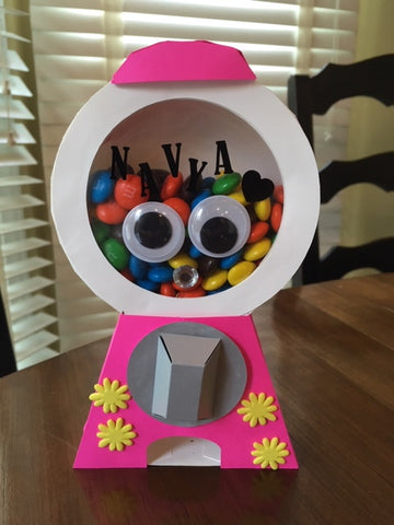 OctoGift customized candy dispenser greeting card