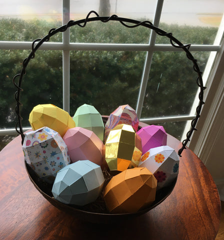 Paper egg Easter basket