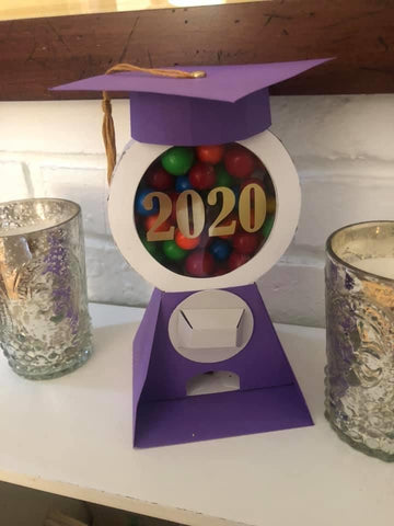 Graduation card OctoGift candy machine