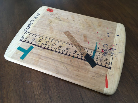 old cutting board repurpose use arts crafts