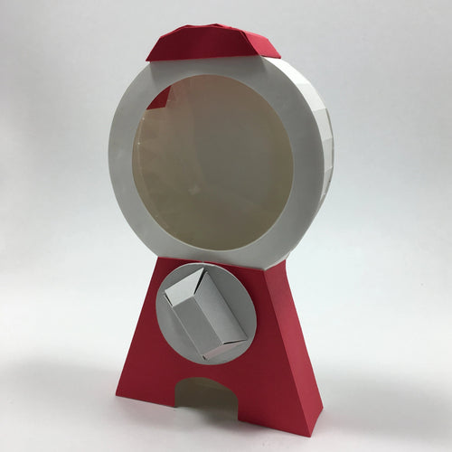 OctoGifts origami red paper customizable candy dispenser machine greeting card customizable