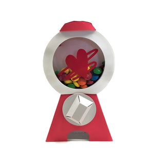 Squiggly Heart Gumball Machine Card, DIY Kit
