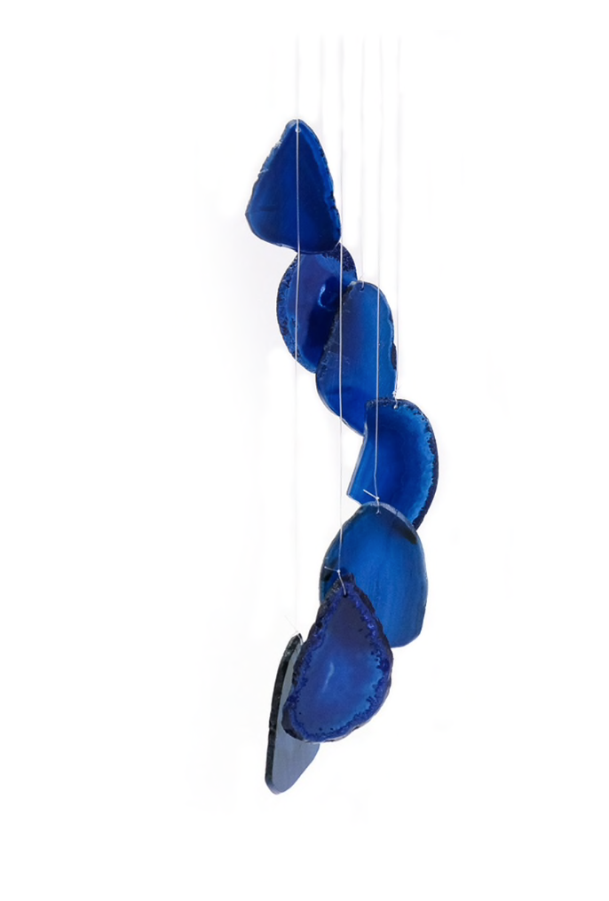 BLUE AGATE WINDCHIME