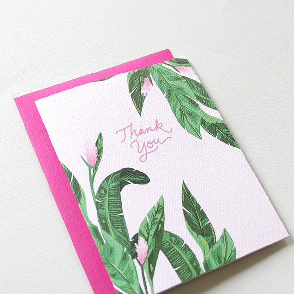 Hot Tropics Thank You Card