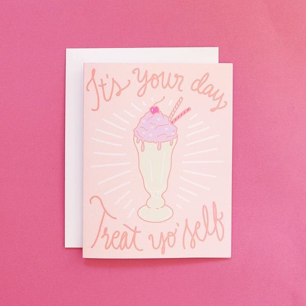 Milkshake Treat Birthday Card