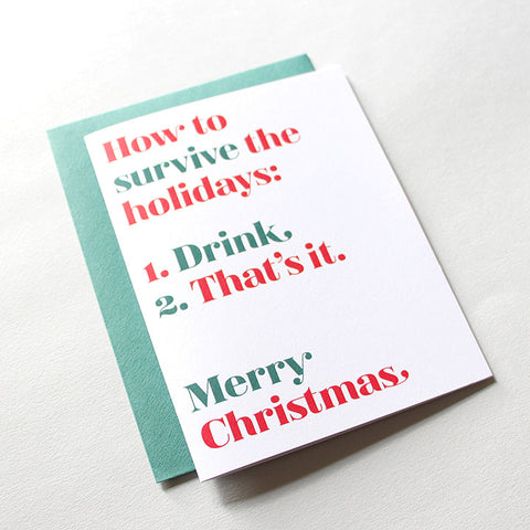 How To Survive Holiday Card