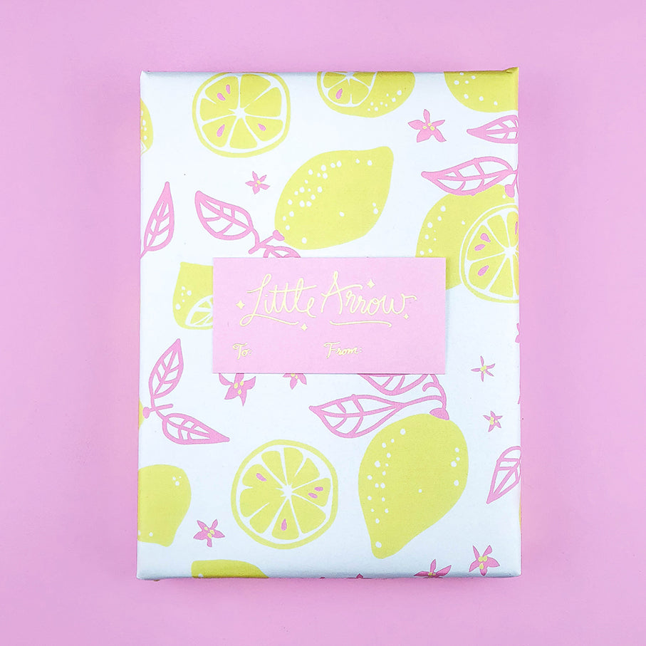 Gift Wrapping Service - Lemon Print