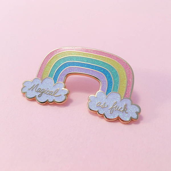 Magical AF Rainbow Pin