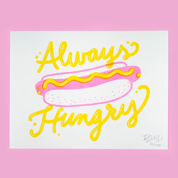 Always Hungry Riso Art Print