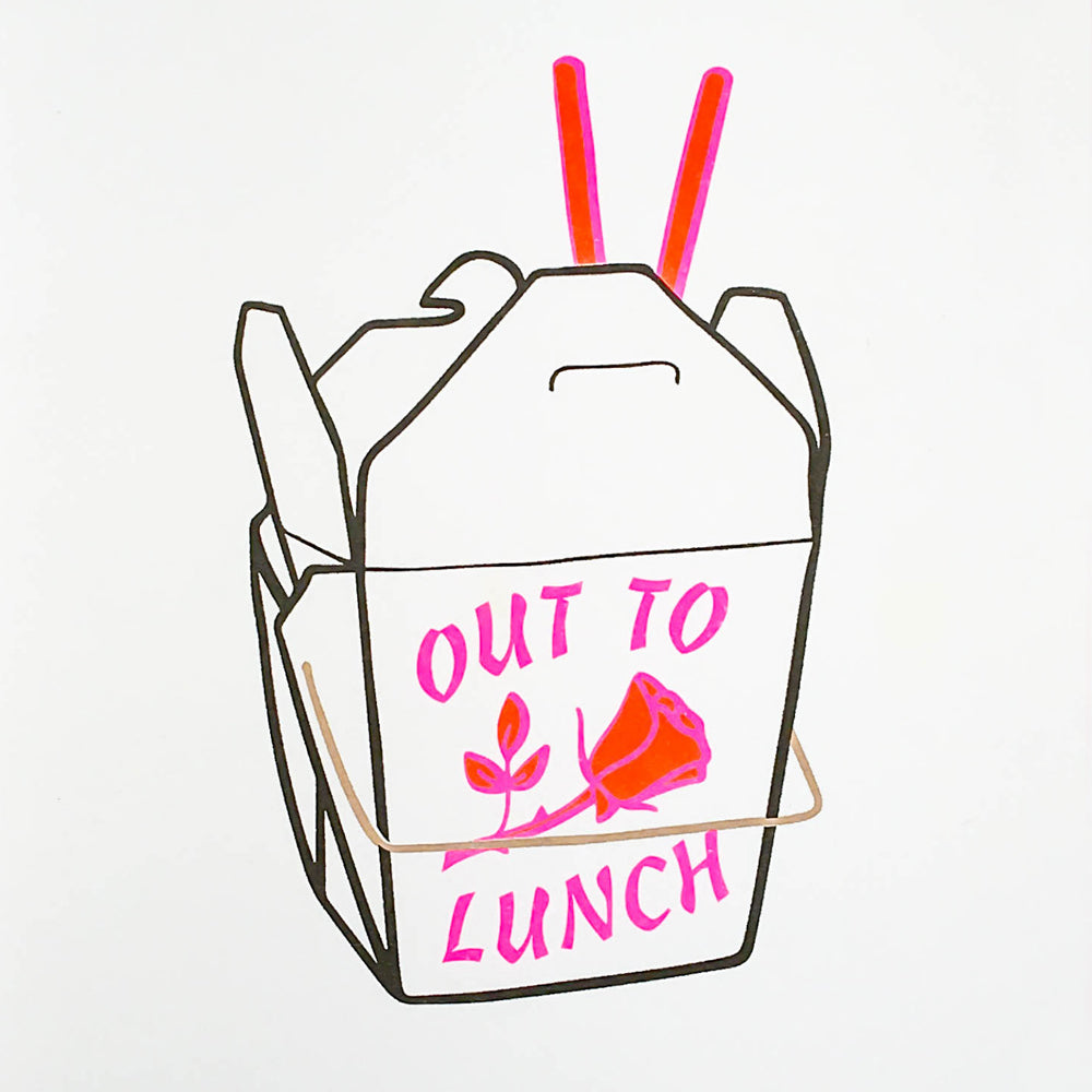 Out To Lunch Riso Art Print