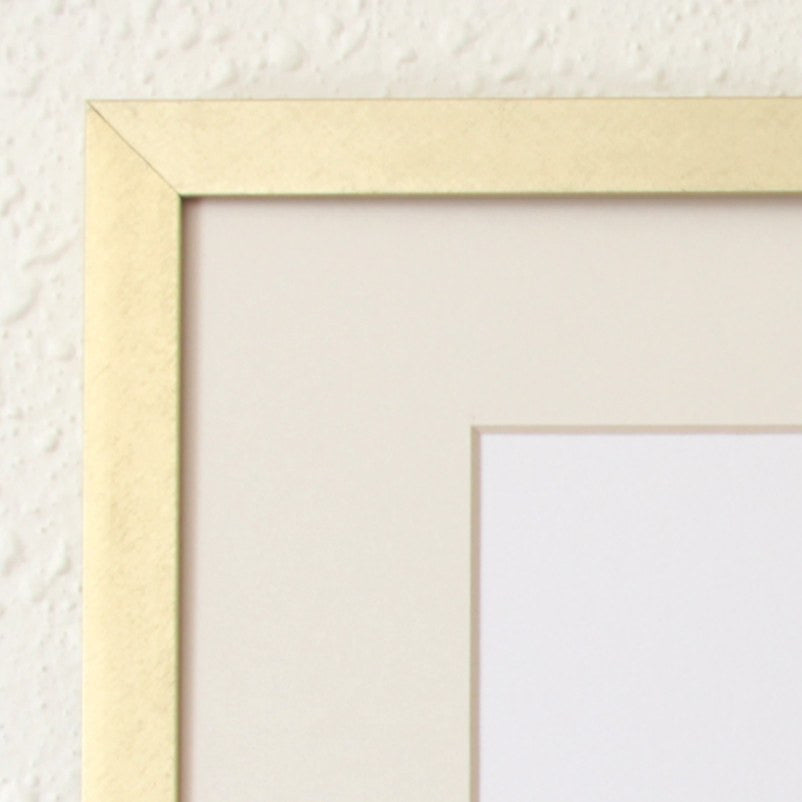 "Art Prints - Art Prints - Brushed Gold 8"" X 10"" Metal Frame"