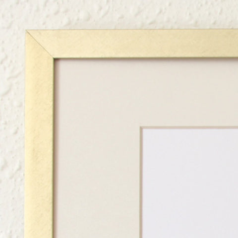 "Brushed Gold 8"" x 10"" Metal Frame"